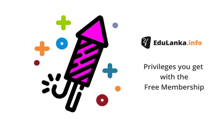 Privileges you get with the Free Membership – EduLanka.info